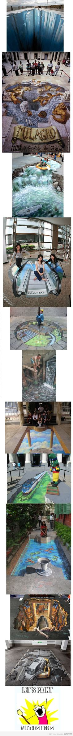 3D This is amazing to me. The artists who do this have an incredible talent.