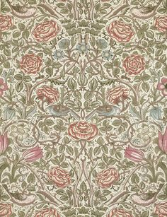 Rose furnishing fabric. You can get prints from the V&A!