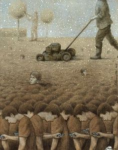 30 Illustrations By Pawel Kuczynski Showing What's Wrong With Modern Society The Polish artist Pawel Kuczynski is an absolute master, combining satire Satire, Satirical Illustrations, Illustrator, Les Religions, Social Art, Social Media, Political Art, Wow Art, Grafik Design