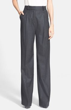 Theory 'Adamaris' Wide Leg Flannel Pants available at #Nordstrom