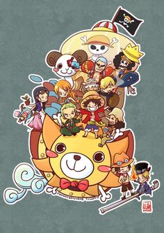 Monkey D Luffy Roronoa Zoro Sanji Vinsmoke Monster Trio Nami Usopp Tony Tony Chopper Nico Robin Franky Brook Straw Hat Crew Pirates Mugiwaras One Piece