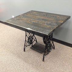 "Repurposed ""Singer"" Sewing Machine Desk"