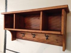 Barn wood entry shelf coat rack, Handcrafted furniture home decor, Rustic, primitive and country motif entry rack by Barnwoodcustom on Etsy https://www.etsy.com/listing/217518078/barn-wood-entry-shelf-coat-rack