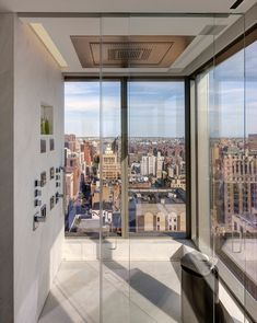 Manhattan-based architect Andre Kikoski designed this luxury, 1500-square-foot apartment located on the 32nd floor with incredible views overlooking Madison Square Park