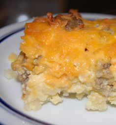 Breakfast Casserole with hashbrowns & sausage