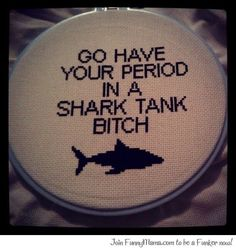 obnoxious cross stitch or funny DIY gift