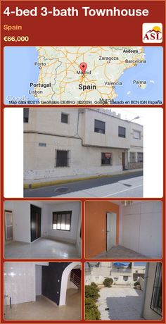 Townhouse for Sale in Spain with 4 bedrooms, 3 bathrooms - A Spanish Life Andorra, Valencia, Portugal, Barcelona, Number 2, Alicante, Home Repair, Townhouse, Terrace