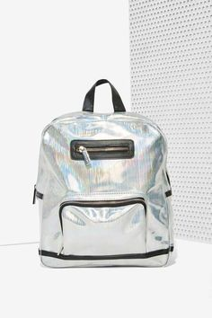 Factory Skinnydip London Beam Me Up Hologram Backpack