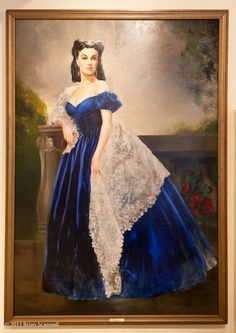 """From the movie """"Gone With the Wind"""", Vivien Leigh as Scarlett O'Hara Butler in the """"Blue Portrait"""" that hung in Rhetts' room in the Peachtree Street House in Atlanta"""