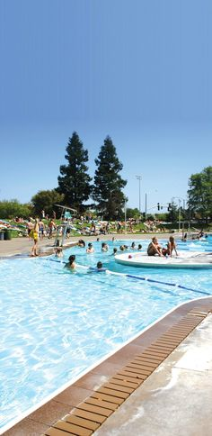 #33 Recreation Pool: The Recreation Pool is a great place to go on a hot day with friends. It's the largest freeform swimming pool on the West Coast. The Rec Pool has lap lanes, diving boards, an island, large areas for sunbathing and a shallow wading pool to suit the needs of everyone.