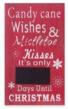 "Winter Wonderland ""Days Until Christmas"" Chalkboard Countdown Sign#ChristmasDecor #christmascalendar #christmasgift#farmhousedecor#christmassign#ad"