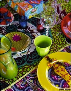 Table is set! #africanprints