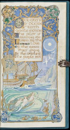 Gorgeous Illuminated Manuscript by Jessie Bayes...just a mere 35K and it's yours!