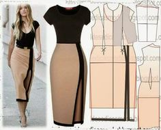 23 super ideas for sewing skirts maxi diy Sewing Dress, Dress Sewing Patterns, Sewing Clothes, Clothing Patterns, Fashion Sewing, Diy Fashion, Ideias Fashion, Fashion Dresses, Maxi Dresses