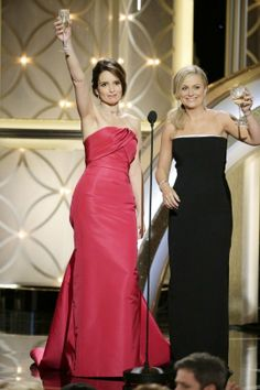 The 2014 Golden Globes began the real kickoff for winter award shows, and our favorite funny ladies, Tina Fey and Amy Poehler (pictured, top), killed it – with humor and glamor. Celebrity Best Friends, Celebrity Couples, Girls Best Friend, Celebrity Style, Celebrity News, Amy Poehler, Drunk Wedding, Wedding 2015, Female Friendship