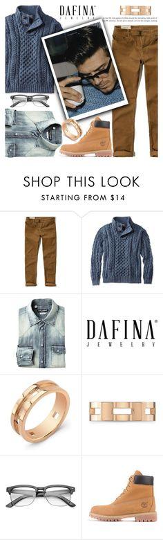 """DAFINA JEWELRY HIM"" by tiziana-melera ❤ liked on Polyvore featuring Hollister Co., L.L.Bean, David Beckham, ZeroUV, Timberland, men's fashion and menswear"