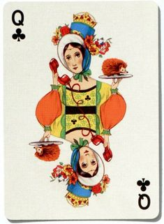 #PlayingCardsTop1000 - Odd Bods Playing Cards by Jonathan Burton - Queen of clubs