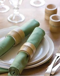 O simples bambu pode ser um bom porta guardanapos!