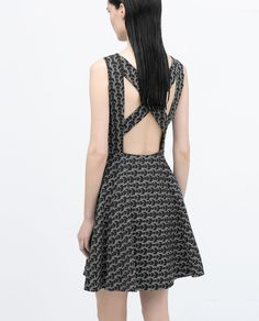 ZARA - WOMAN - DRESS WITH CROSSOVER BACK