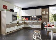 Küche weiß braun - Möbel Mit www.moebelmit.de