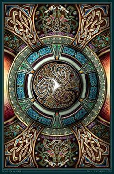 Triskelion #Mandala with #Celtic Knot Pattern Gorgeous! ~#Zentangle Inspiration!