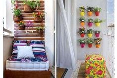 pomysły na wystrój małego balkonu