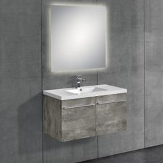 [neu.haus] Mobile da bagno con lavabo e specchio 296,30 € Bathroom Vanity, Living Room Carpet, Living Room, Vanity, Room, Bathroom