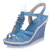 Wedge Heel sandalias de las mujeres de piel s... – EUR € 24.74