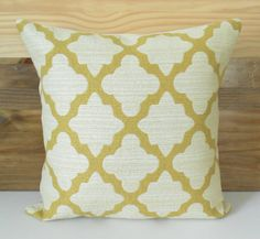 Double sided Citrine yellow and ivory morrocan by pillowflightpdx