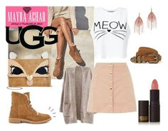 """""""The New Classics With UGG: Contest Entry"""" by mayraacharok on Polyvore featuring moda, UGG, Betsey Johnson, Innocence, Yves Saint Laurent, Serefina, Old Navy, Miss Selfridge, Lipstick Queen y ugg"""