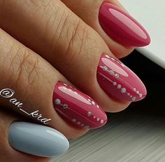 Nail art Christmas - the festive spirit on the nails. Over 70 creative ideas and tutorials - My Nails Super Nails, Blue Nails, Winter Nails, Manicure And Pedicure, Christmas Nails, Nails Inspiration, Beauty Nails, Pretty Nails, Nail Art Designs