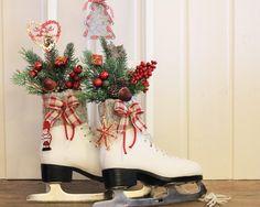 Schlittschuhe Weihnachtsdeko Landhaus von Thürmchens Lädchen auf DaWanda.com