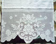 Hecho a mano + corredor + con + crochet - + € +: + Naxos + Arte, + Joyas, + Artesanías . Crochet Tablecloth Pattern, Crochet Curtains, Crochet Doilies, Crochet Lace, Filet Crochet, Crochet Borders, Crochet Patterns, Embroidery Online, Handmade Shop