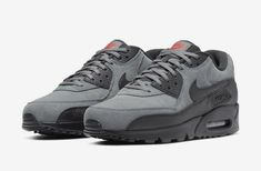 Nike Shoes OFF! ►► Nike Air Max 90 Essential Grey Suede Release Date Source by shoes air max Gray Nike Shoes, Nike Casual Shoes, Nike Shoes Outfits, Nike Air Max 90s, Mens Nike Air, Nike Men, Air Max 90 Grey, Zapatillas Nike Air, Air Max 90 Leather