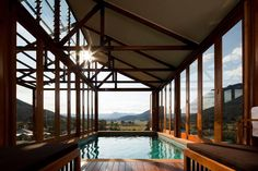 Beautiful structural pool overlooking Australia's Wolgan Valley.