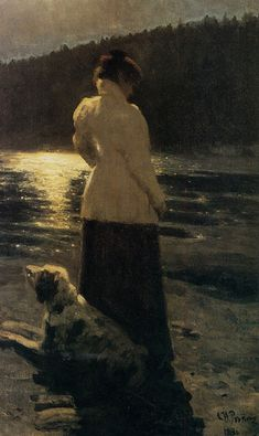 Ilya Repin, Moonlight, 1896