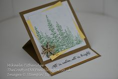 This was the very first stamp set that jumped out at me from the Autumn/Winter Seasonal catalogue. Fancy Fold Cards, Folded Cards, Woodland Christmas, Paper Stars, Embossing Folder, Birthday Wishes, My Images, Thank You Cards, Stampin Up