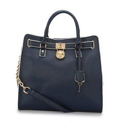 Cheap Michael Kors Hamilton Specchio Large Navy Totes Clearance