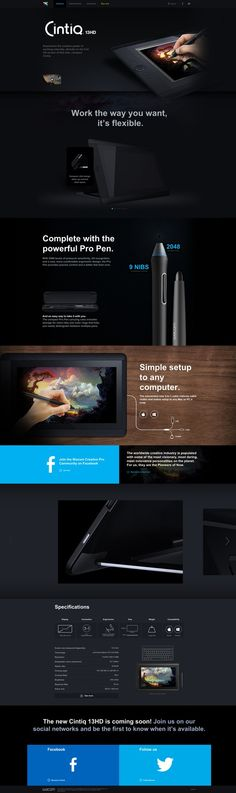 new wacom cintiq13 HD website.