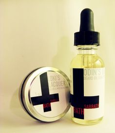 ODIN'S Oil & LOKI'S Lacquer beard products by BathSabbath on Etsy. So funny! I got this for Adam to help with his itchy beard.