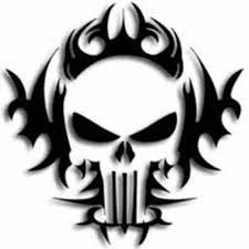 Tribal skulls you can use to stencil, graffiti and tattoo [break]read more[/break] Punisher skull outline free print and distribute them on walls Free Skull Stencil, Stencil Art, Skull Art, Stencils, Graffiti Art, Stencil Graffiti, Tribal Tattoos, Skull Tattoos, Art Tattoos