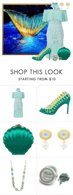 """""""Turquoise Gown or Dress"""" by freida-adams ❤ liked on Polyvore featuring Temperley London, Manolo Blahnik, Lanvin, Julie Vos and Alexis Bittar"""