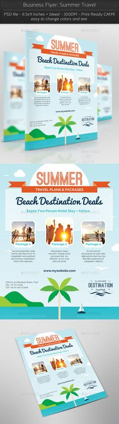 Travel Tour and Vacation Flyer Free PSD PSD Print Template