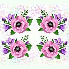 Cross Stitch Books, Cross Stitch Flowers, Perler Bead Art, Perler Beads, Crewel Embroidery, Knitted Bags, Cross Stitching, Floral Wreath, Projects To Try