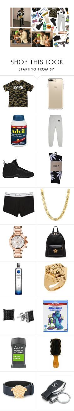 """[ 2.0 ] pick up the phone baby let me know if you alone baby"" by gangban-g3rs ❤ liked on Polyvore featuring A BATHING APE, Speck, Guide London, Stussy, NIKE, Calvin Klein Underwear, Versace, Hard Candy, FRUIT and Disney"