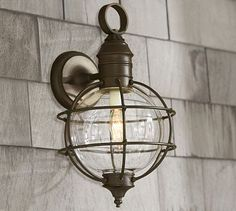 Fisherman's Sconce #potterybarn    Andrew really likes the nautical inspired lighting.  I can go for these Fisherman sconces over the marine lighting he has shown me otherwise.  Price isn't terrible either.