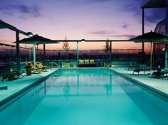 From the rooftop at the Gansevoort's luxe lodging in NYC's Meatpacking District, you can watch the sun set over the Hudson River (and, yes, New Jersey—it's pretty, trust us). The pool also has underwater speakers, so you don't have to miss the tunes when you take a dip. #roomcritic