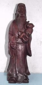 Vintage Chinese Carved Wood Daoist Taoist Figurine China in Antiques, Asian/ Oriental Antiques, Chinese, Woodenware | eBay
