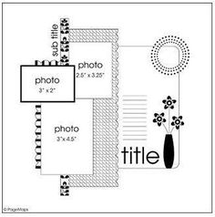 ScrapBook Ideas: Layout scrapbook