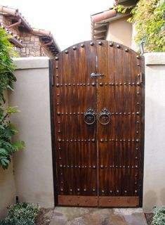Image result for spanish gate entrance with stucco posts #automaticgaragedoordrivewaygate